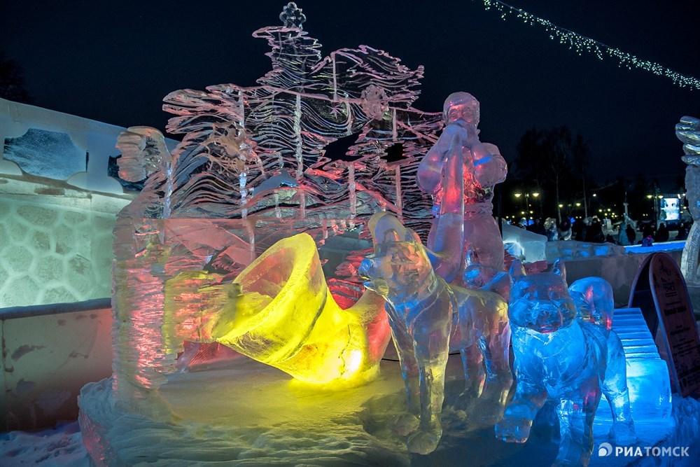 Скульптура Призыв зимы от команды Кузбасских Йети – один из бронзовых призеров фестиваля.