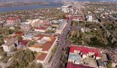 Шествие на День Победы в Томске: кадры с квадрокоптера
