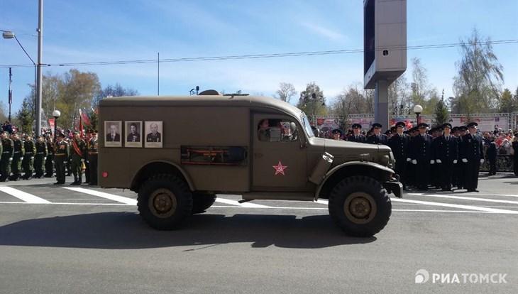 Колонна ретротехники открыла Парад Победы в Томске