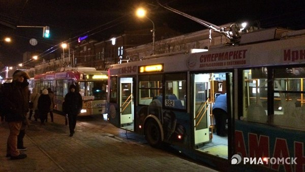 Общественный транспорт в новогоднюю ночь в Томске: цены и график