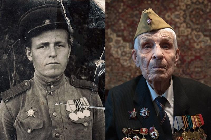 На фронт Сычев попал в 19 лет осенью 1942 года – солдатом панцирной пехоты. Подо Ржевом был ранен в ногу. После лечения его отправили учиться на связиста. В боях в Восточной Белоруссии получил второе ранение – в голову, после которого чудом выжил.