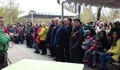 Томичи хором спели День Победы на площади Новособорной
