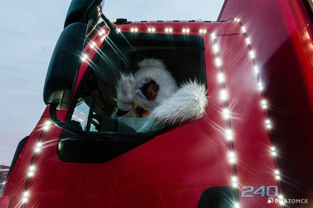 Из Томска Рождественский караван отправится в соседние сибирские города – Кемерово, Ачинск и Красноярск.