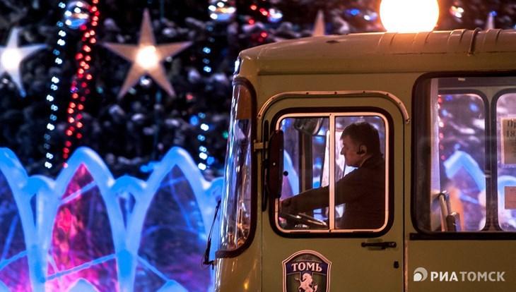 Томичи смогут уехать после новогоднего салюта на городском транспорте