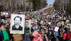 Около 50 тыс человек встали в колонну Бессмертного полка в Томске