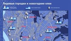 Новогодний гид: карта елок и ледовых городков в Томске
