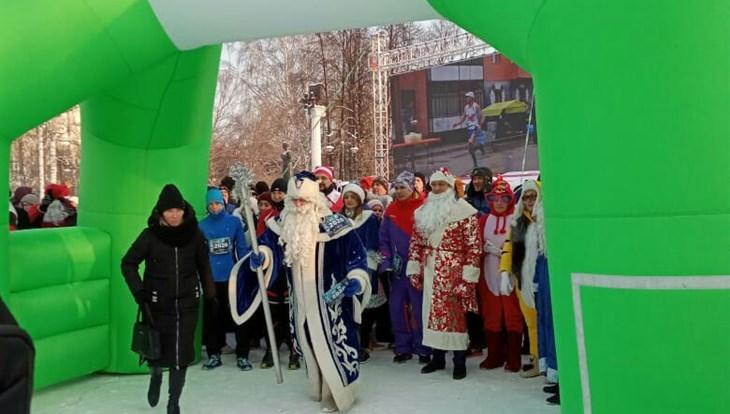 Около 500 томичей приняли участие в новогоднем забеге 1 января