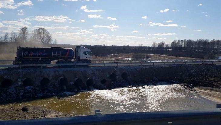 Подтопленный ранее участок трассы Юрга – Томск открыт для движения