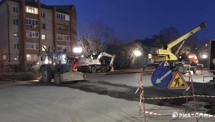 Мэрия Томска: следы раскопок на Нахимова должны исчезнуть до 30 июня