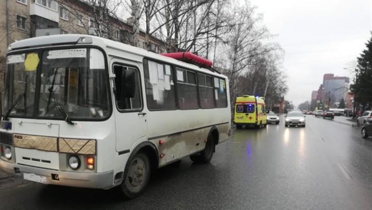 Маршрутка сбила пешехода-нарушителя на Иркутском тракте в Томске