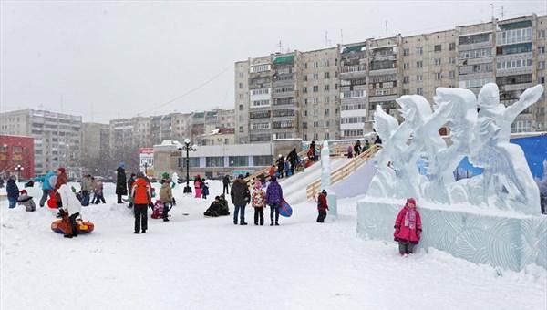 Ледовые заяц и волк из Ну, погоди! появятся в Томске к Новому году
