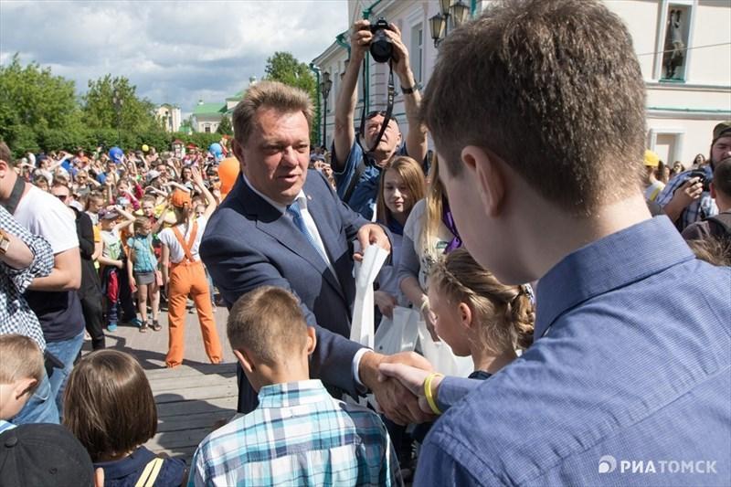 Градоначальник также поздравил юных томичей, родившихся 7 июня.