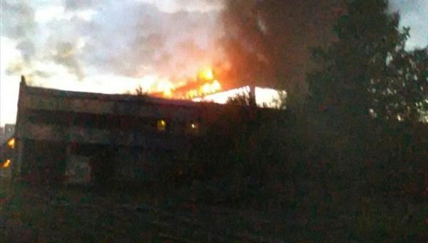 Пожар произошел на территории томского ЖБК-100