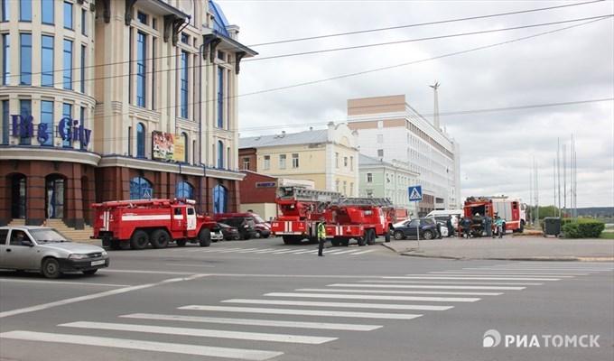 Вмногоэтажном здании арбитражного суда вТомске произошел пожар