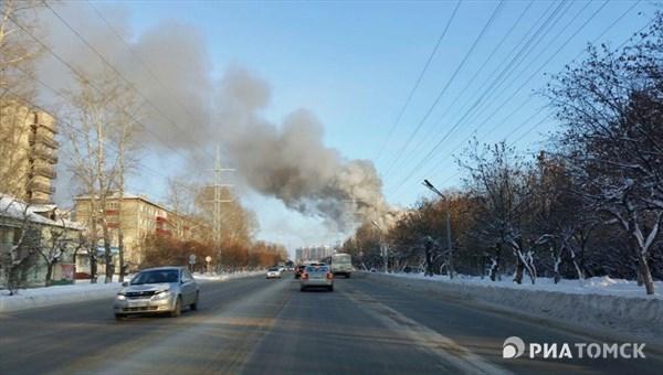 ВТомске произошел пожар вдевятиэтажном помещении «Газпромнефти»