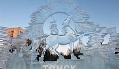Как в детстве: ледовые скульптуры из киносказок украсили центр Томска
