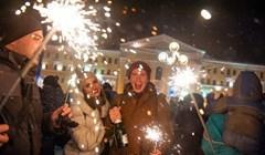 Новогодняя ночь-2017 в Томске: фейерверк, радость и любовь