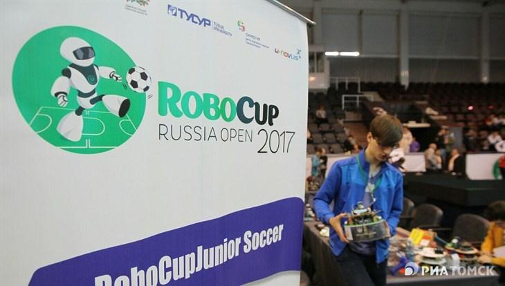 Русский этапЧМ пофутболу среди роботов проходит вТомске