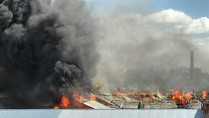 ВТомске натерритории колонии №4 пламенеют школа ибаня