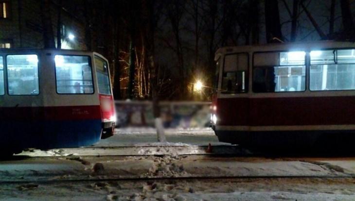 ВТомске столкнулись два трамвая, пострадал престарелая  женщина