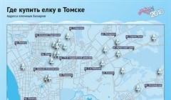 Где купить новогоднее дерево: карта елочных базаров Томска