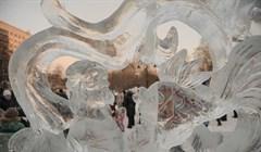 Хрустальный Томск: какие диковинные ледовые фигуры украсили город