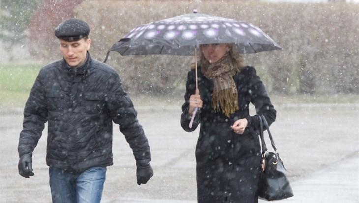 Дождь с мокрым снегом ожидается в Томске в четверг
