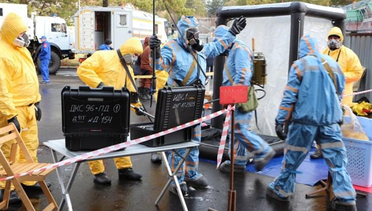 Полторы сотни человек в ходе учений устранили аварию на реакторе ТПУ