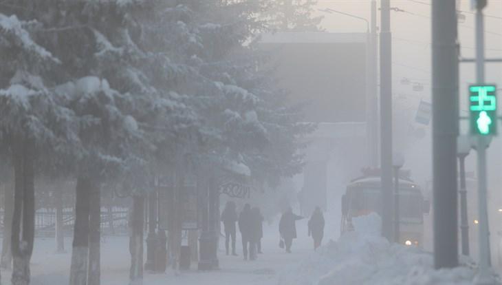 Гололедица и до 34 градусов мороза ожидаются в понедельник в Томске