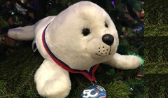 Baby seal – Russian Finswimming Championship talisman was named Nyrok
