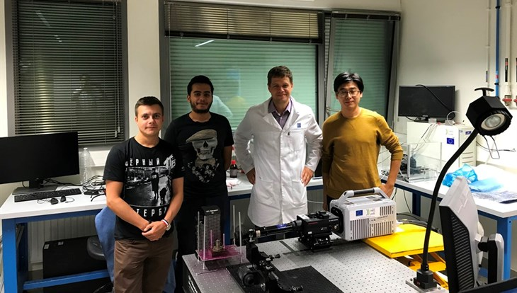 TPU scientists conducted biofuel burning experiments in France