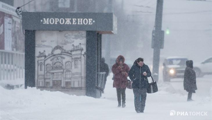 Синоптики прогнозируют снег и сильный ветер в четверг в Томске