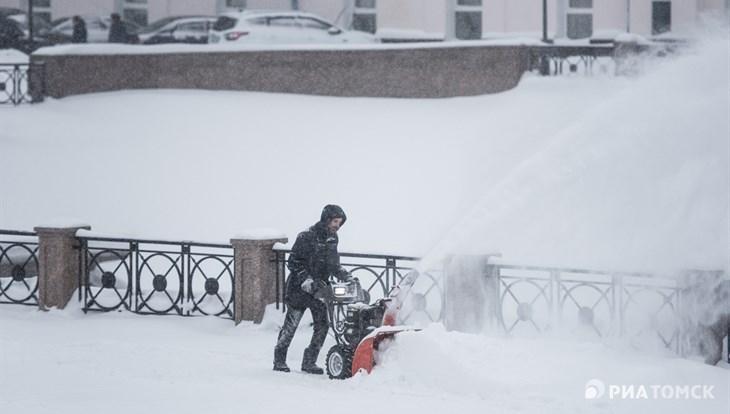 Снег и порывистый ветер ждут томичей во вторник