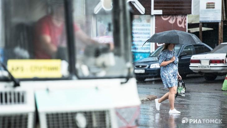 Понедельник в Томске будет теплым, но дождливым, возможен град