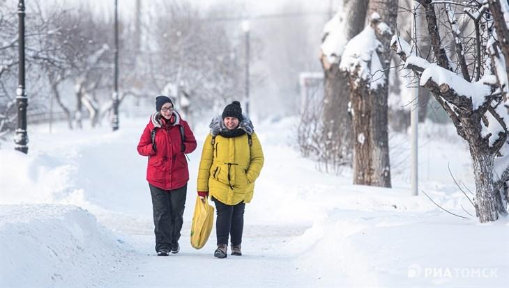 Мороз до минус 26 градусов вернется в Томск в среду