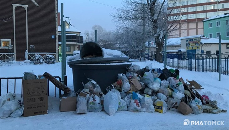 САХ усилит вывоз мусора из дворов Томска с 30 декабря