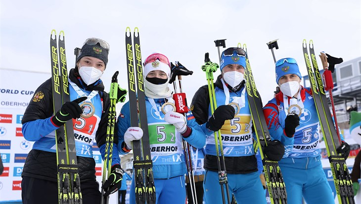Biathlete from Tomsk took gold in the relay at the World Cup