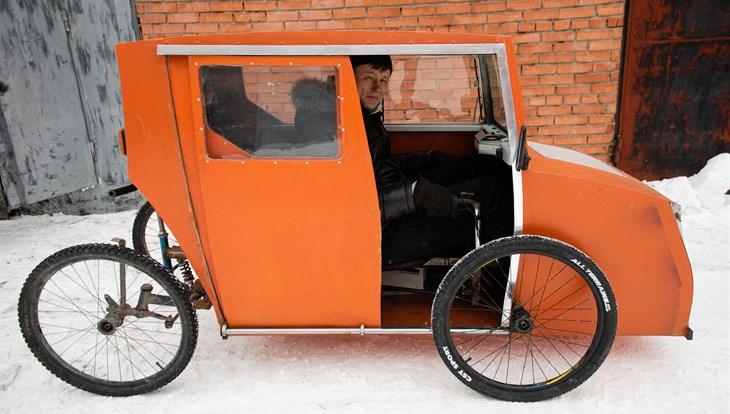 Свой кайф: как томич променял авто на велосипед с деревянной крышей