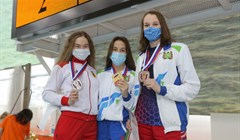 Tomsk team 3rd time in a row became Russian champion in finswimming