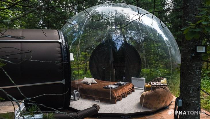 Первый в регионе глэмпинг-отель в пузыре заработал под Томском