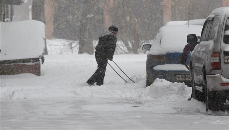 Снежная и ветреная погода сохранится в Томске во вторник