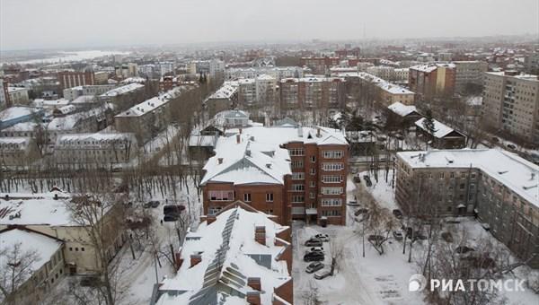 Снег и порывистый ветер ожидают томичей в четверг