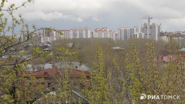 Небольшой дождь и порывистый ветер  ожидаются в Томске в понедельник