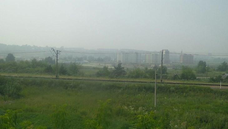Томск затянуло дымкой от лесных пожаров в Казахстане