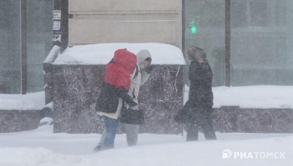 Мэрия Томска просит горожан соблюдать осторожность в связи с непогодой