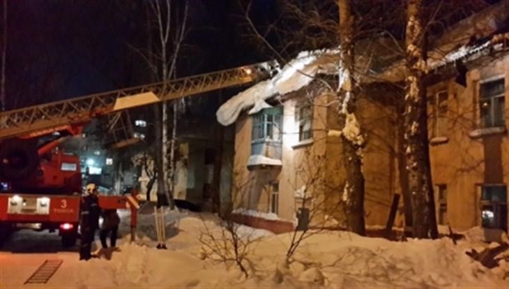 Уголовное дело возбуждено по факту обрушения крыши жилого дома в Томске