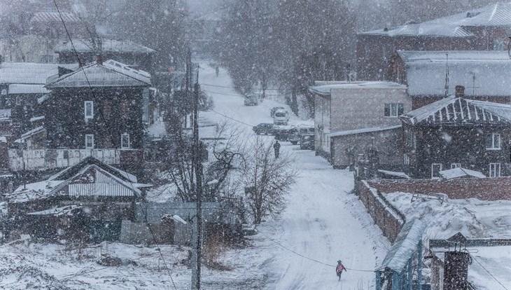 Мокрый снег и ветер до 13 м/с ожидают томичей в понедельник