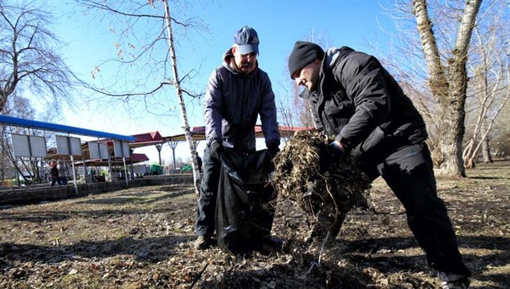 В Томске 15 тысяч жителей приняли участие в первом весеннем субботнике