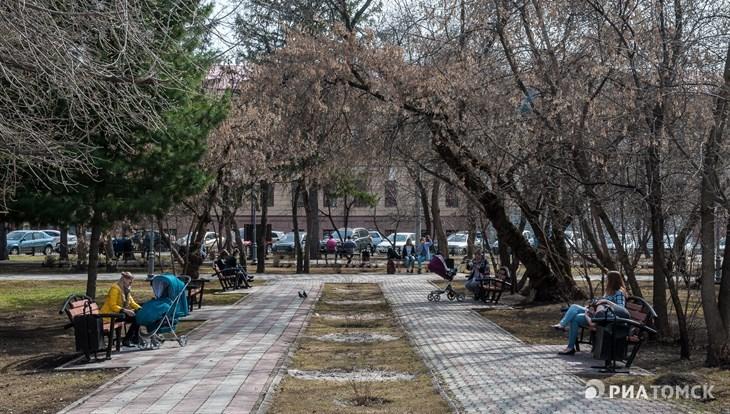 Теплая погода без осадков сохранится в Томске в понедельник