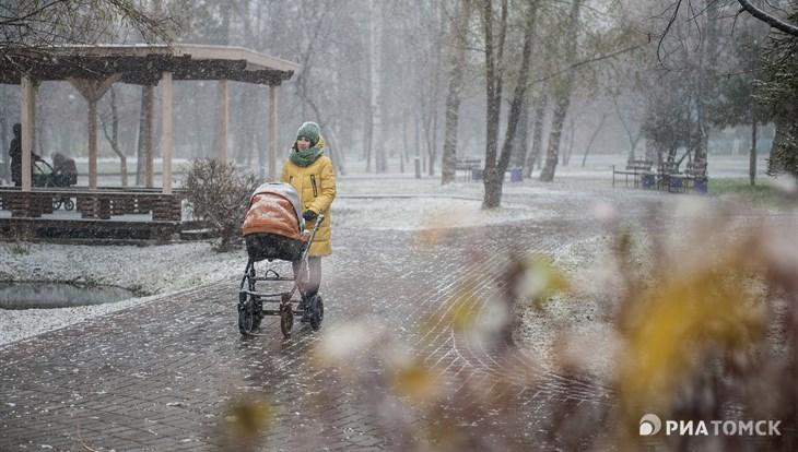 Небольшой дождь с мокрым снегом ожидается в Томске во вторник